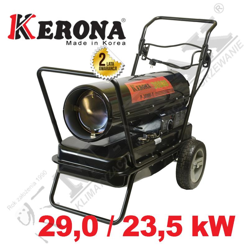 Nagrzewnica olejowa KERONA PROFESSIONAL P-3000E-T 29 kW / 23,5 kW