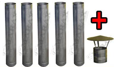 Zestaw kominowy do piecy na olej przepracowany.