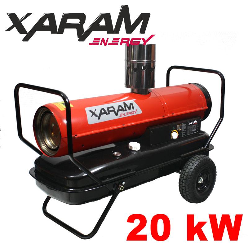 Nagrzewnica olejowa z odprowadzeniem spalin XARAM ENERGY ZF80-ID