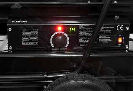 Nagrzewnica kerona, termostat, wyświetlacz temperatury